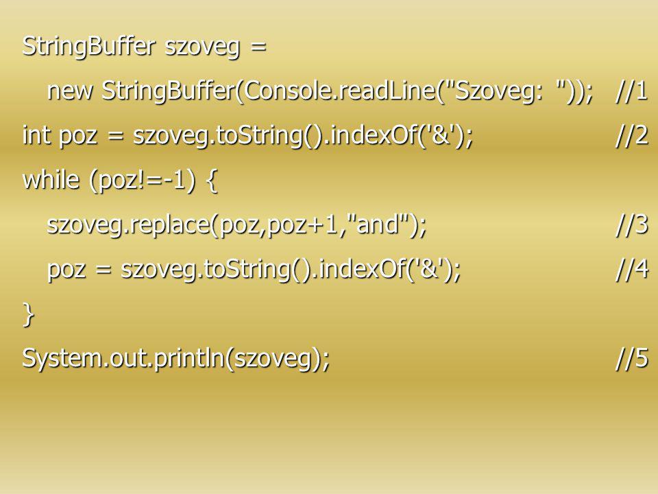 StringBuffer szoveg = new StringBuffer(Console.readLine(