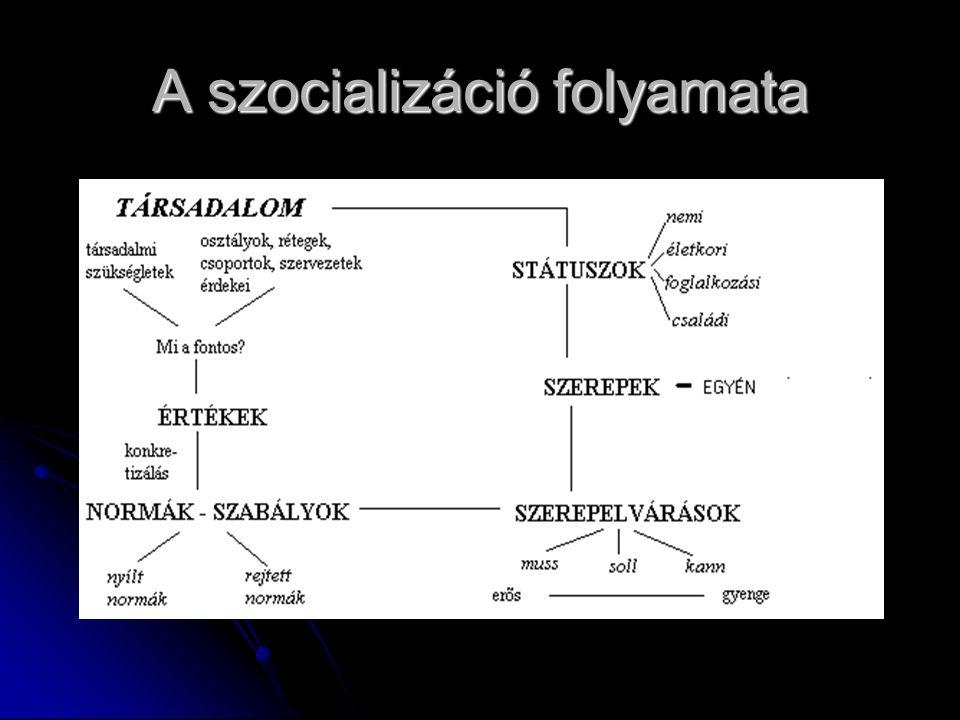A szocializáció folyamata