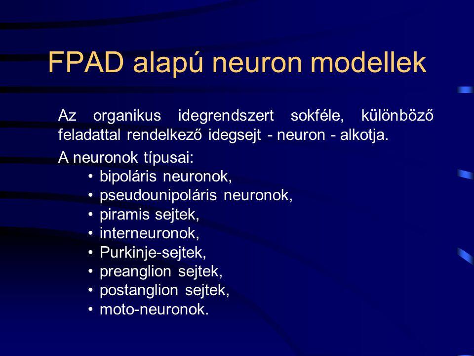 Az idegsejtek automata modellje A mesterséges intelligenciát alkotó neurális funkciókat a mesterséges reflex íveket alkotó hálózatok és a reflex íveket hálózattá, mesterséges idegrendszerré szervező neurális elemek hozzák létre.