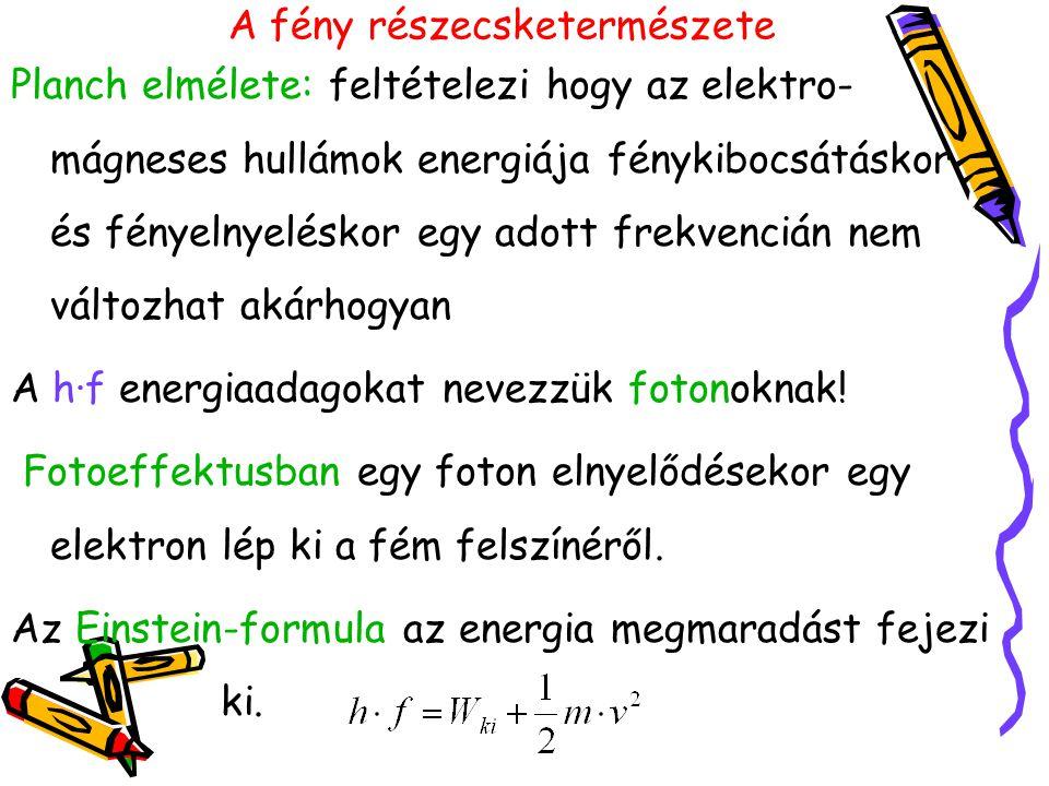 Einstein: A fotont energiaadagnak tekintette.