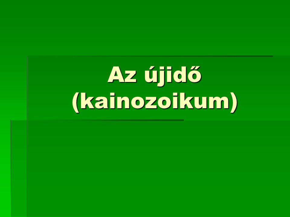 Az újidő (kainozoikum)
