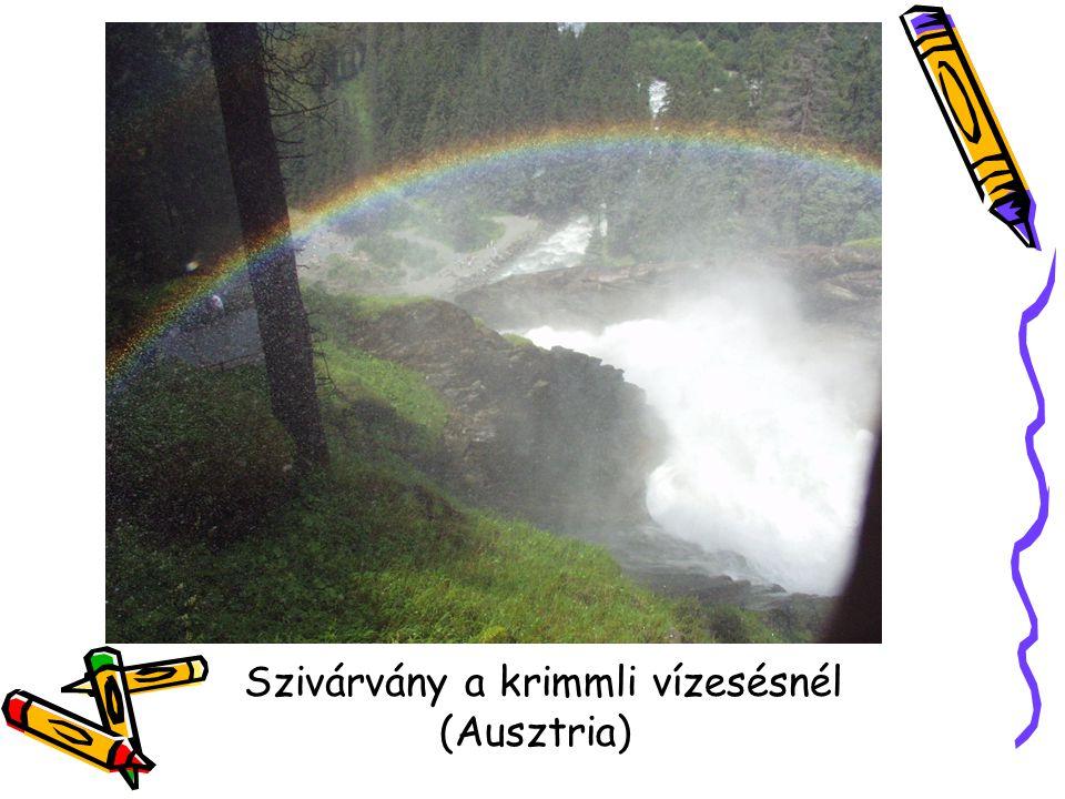 Szivárvány a krimmli vízesésnél (Ausztria)