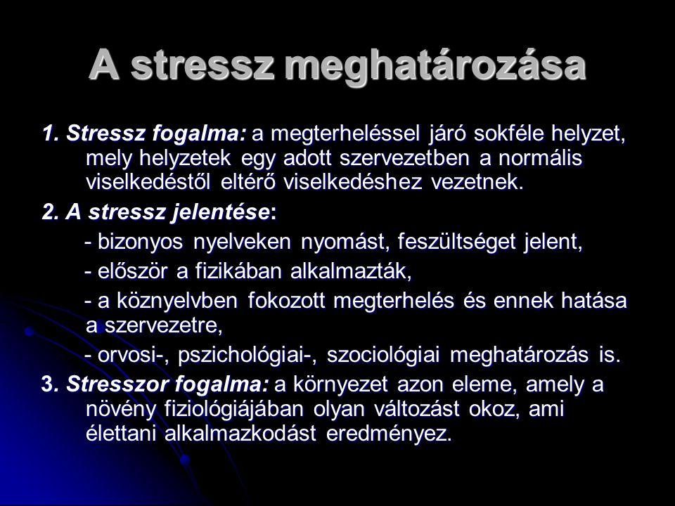 A stressz meghatározása 1.