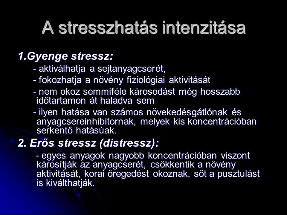A stressz szakaszai A stressz szakaszai  vészreakció  ellenállás stádiuma  kimerülés