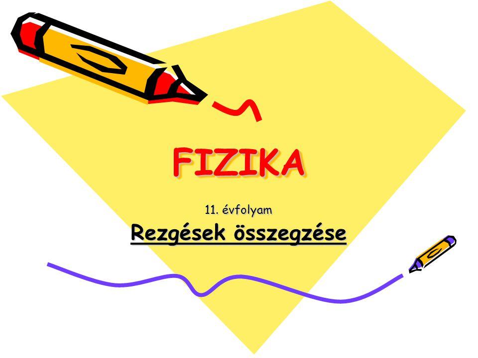 FIZIKAFIZIKA 11. évfolyam Rezgések összegzése