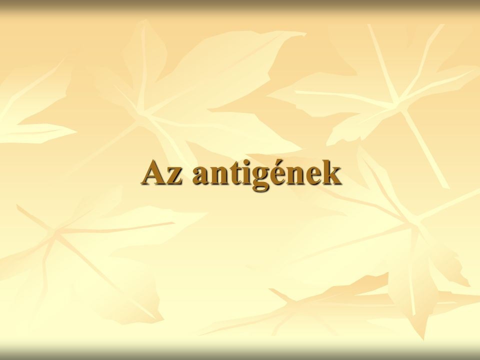 Az antigének