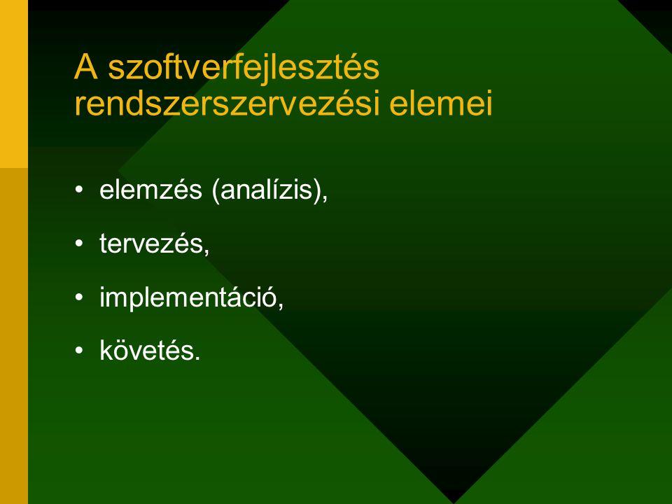 Alrendszerek információtárolási modelljei közös, megosztott adatbázis: ugyanazt az információegyüttest használják az alrendszerek minden alrendszernek külön adatbázis (valódi kommunikáció)