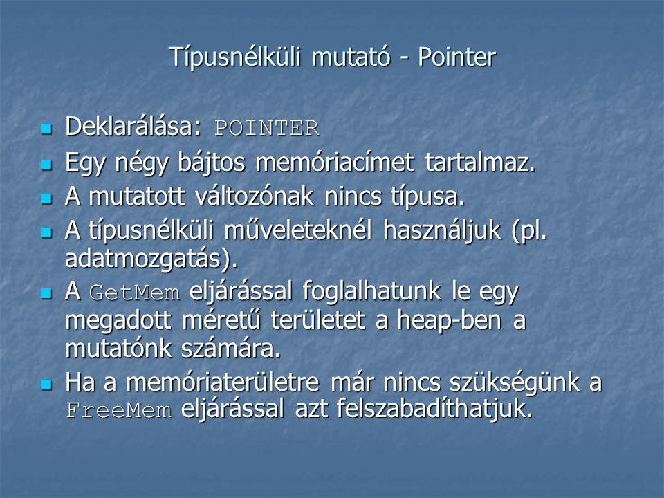 {A lista megjelenítése} WriteLn; Aktualis := Elso; while Aktualis <> nil do begin WriteLn(Aktualis^.Adat); Aktualis := Aktualis^.Kovetkezo end; end.