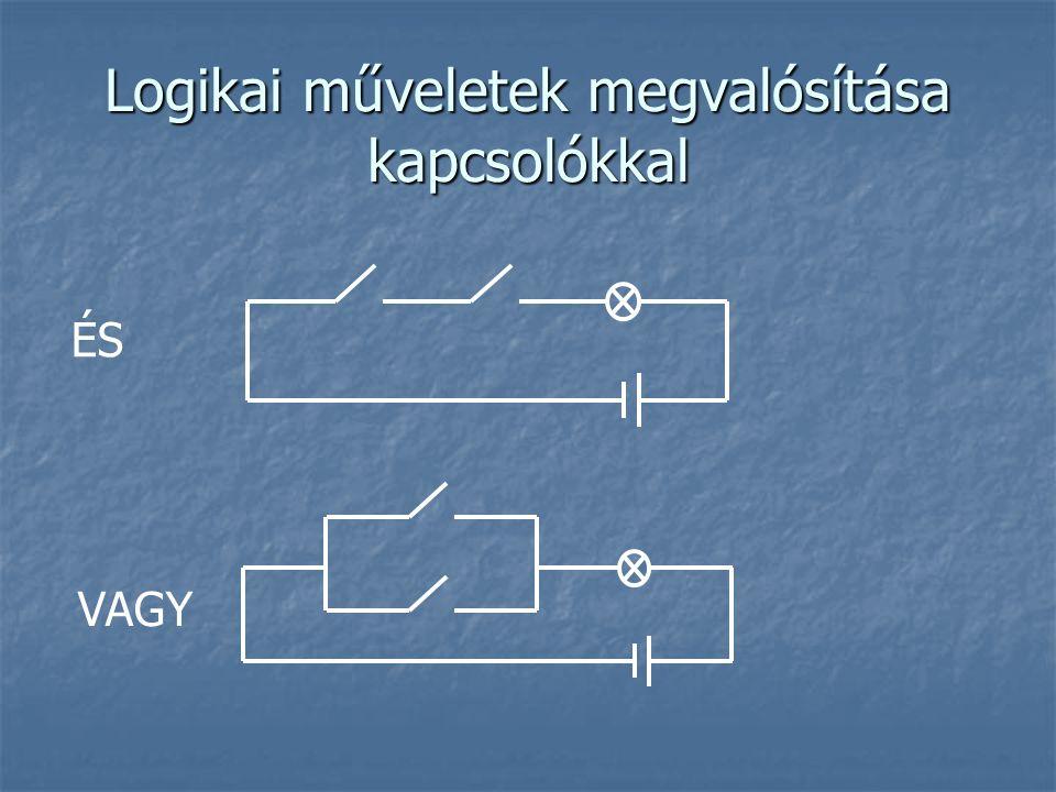 Logikai műveletek megvalósítása kapcsolókkal ÉS VAGY
