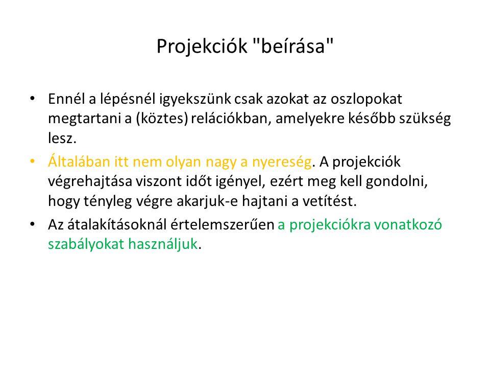 Projekciók