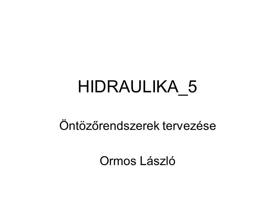 HIDRAULIKA_5 Öntözőrendszerek tervezése Ormos László