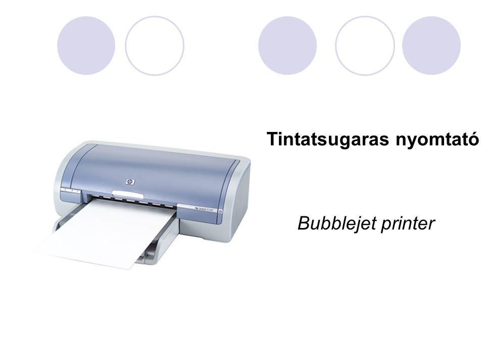 Tintatsugaras nyomtató Bubblejet printer