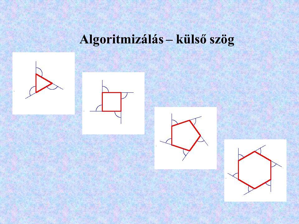 Algoritmizálás – külső szög