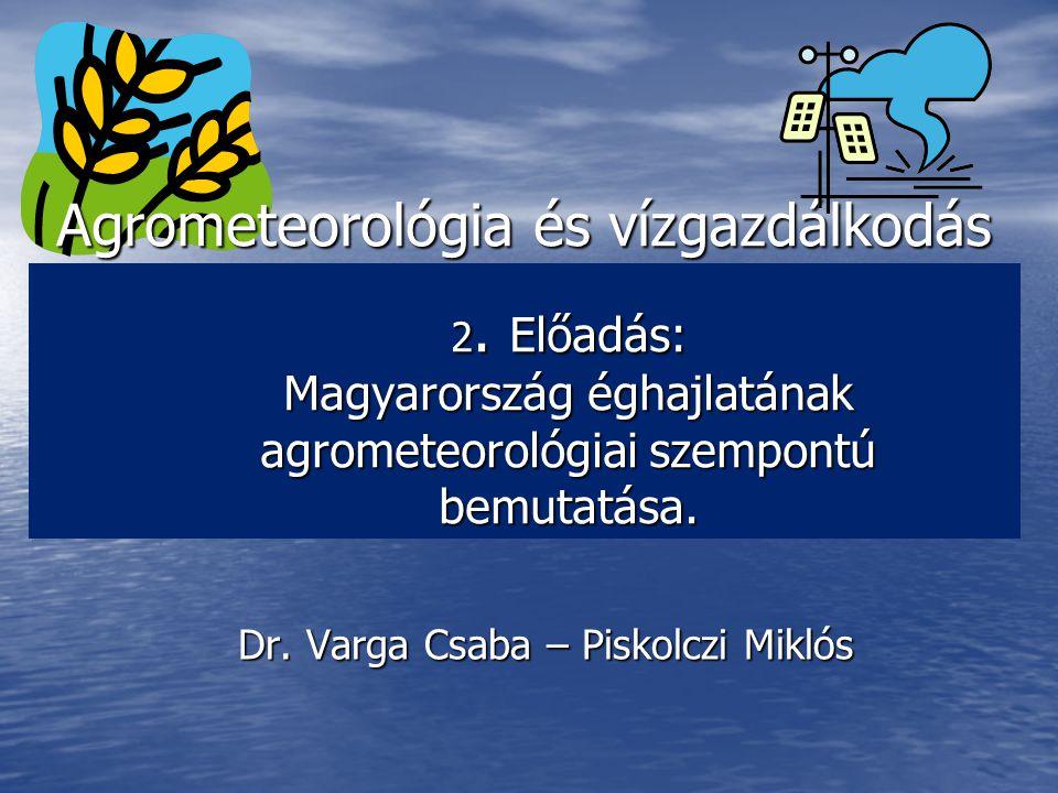 Agrometeorológia és vízgazdálkodás 2.