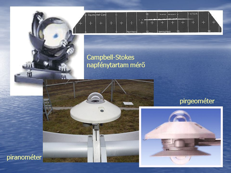 Campbell-Stokes napfénytartam mérő piranométer pirgeométer