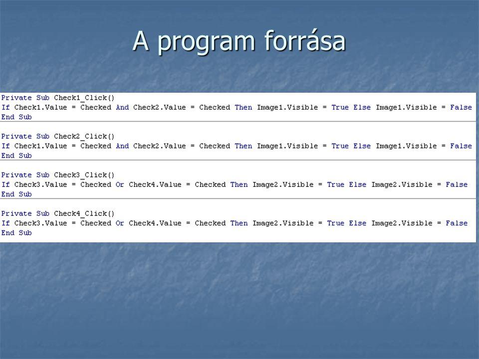 A program forrása
