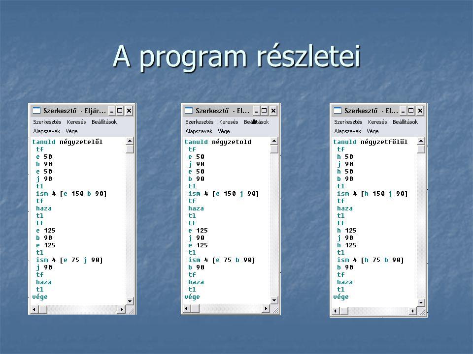 A program részletei