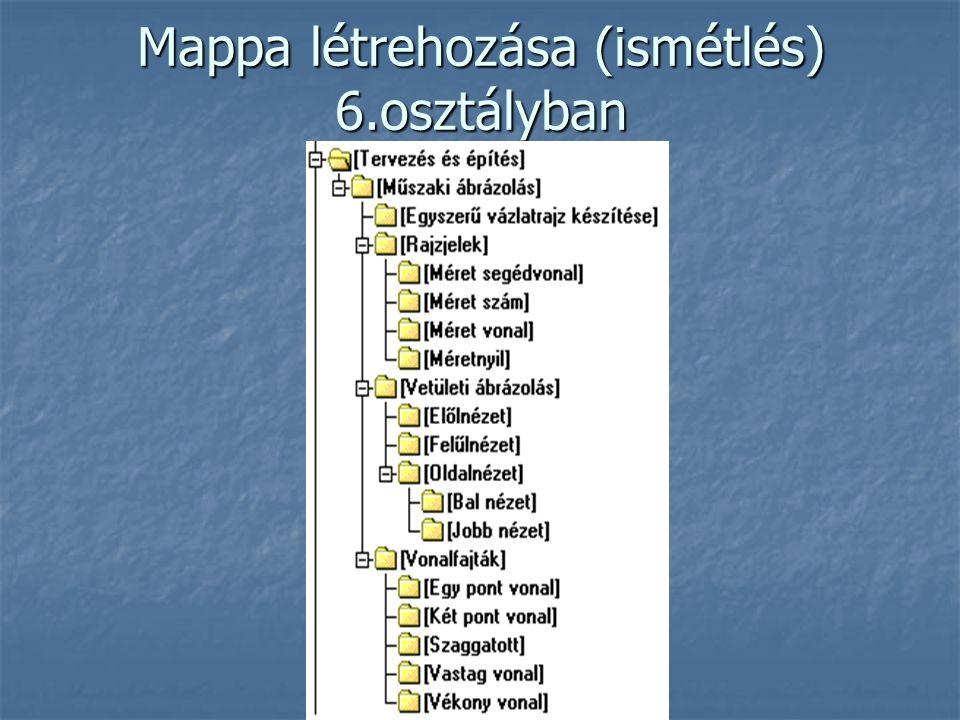 Mappa létrehozása (ismétlés) 6.osztályban