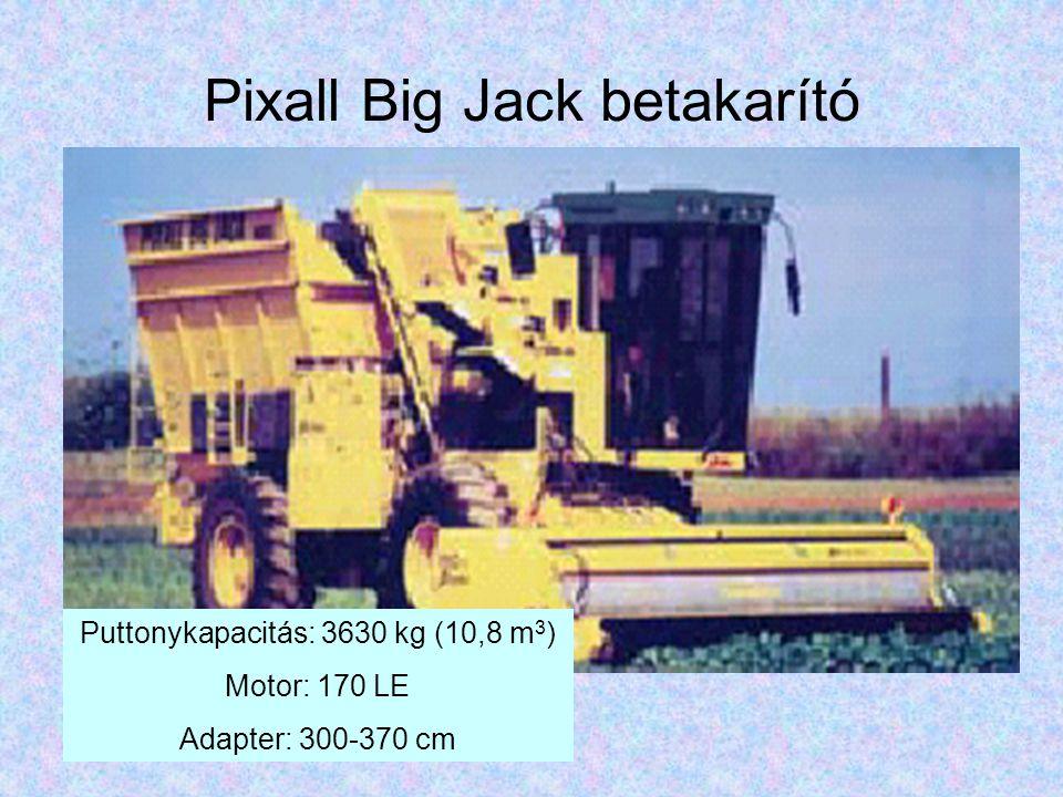 Pixall Big Jack betakarító Puttonykapacitás: 3630 kg (10,8 m 3 ) Motor: 170 LE Adapter: 300-370 cm