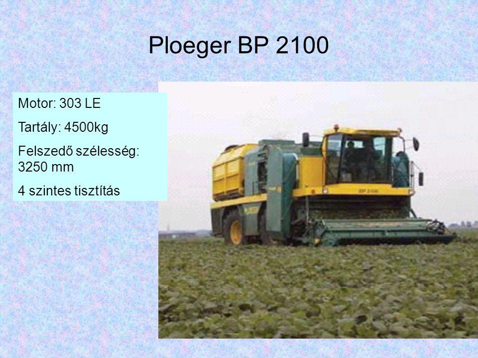 Ploeger BP 2100 Motor: 303 LE Tartály: 4500kg Felszedő szélesség: 3250 mm 4 szintes tisztítás