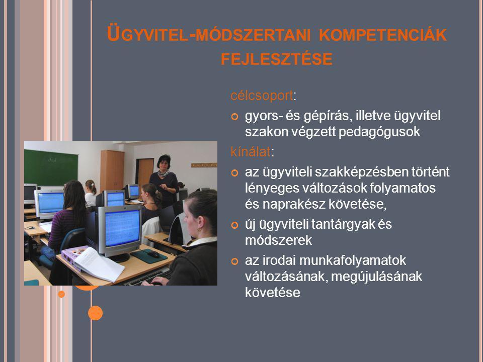 ANYANYELVI TEHETSÉGGONDOZÁS célcsoport: óvodapedagógusok, tanítók, tanárok kínálatunk: a tehetségazonosítás leggyakoribb, az anyanyelvi tehetséggondozás korszerű eljárásai, multimédiás oktatástechnikai eszközök