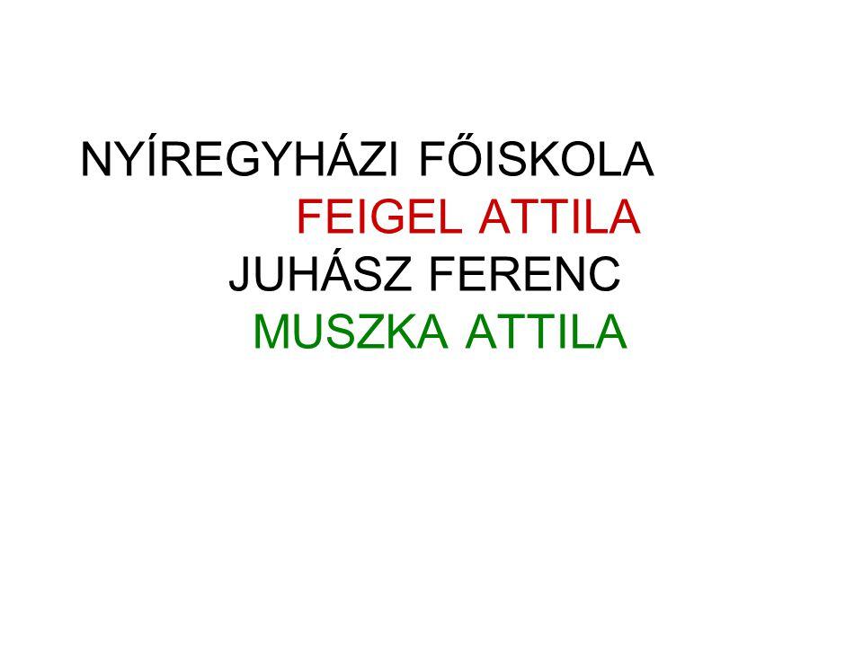 NYÍREGYHÁZI FŐISKOLA FEIGEL ATTILA JUHÁSZ FERENC MUSZKA ATTILA