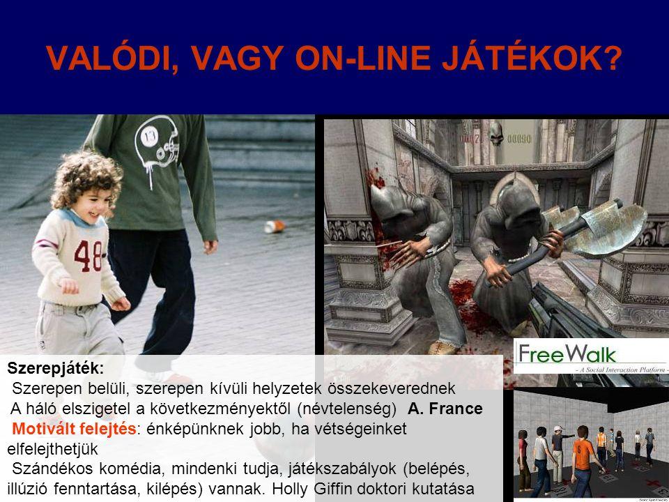 VALÓDI, VAGY ON-LINE JÁTÉKOK.