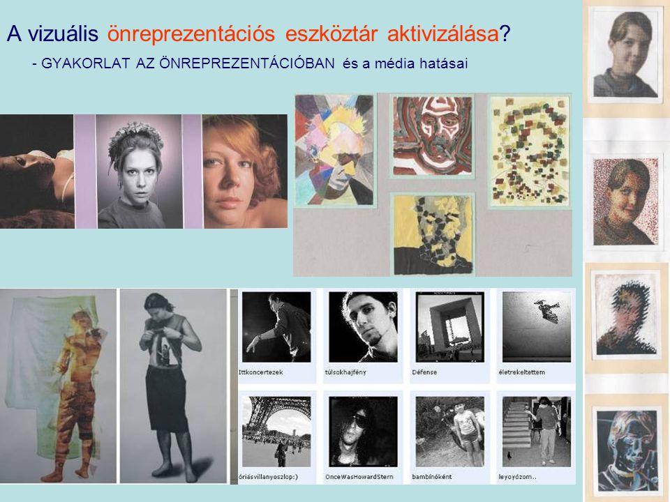 A vizuális önreprezentációs eszköztár aktivizálása.