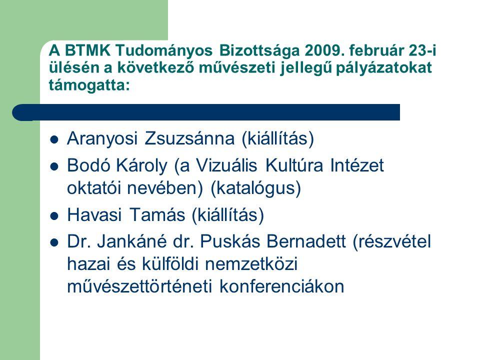 A BTMK Tudományos Bizottsága 2009.