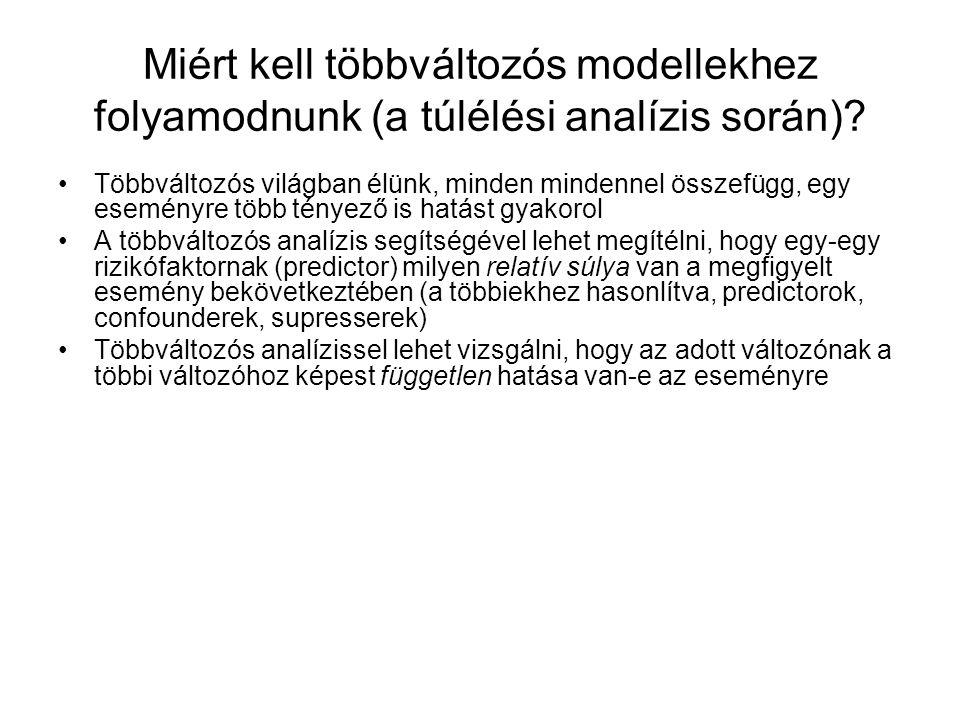 Miért kell többváltozós modellekhez folyamodnunk (a túlélési analízis során).