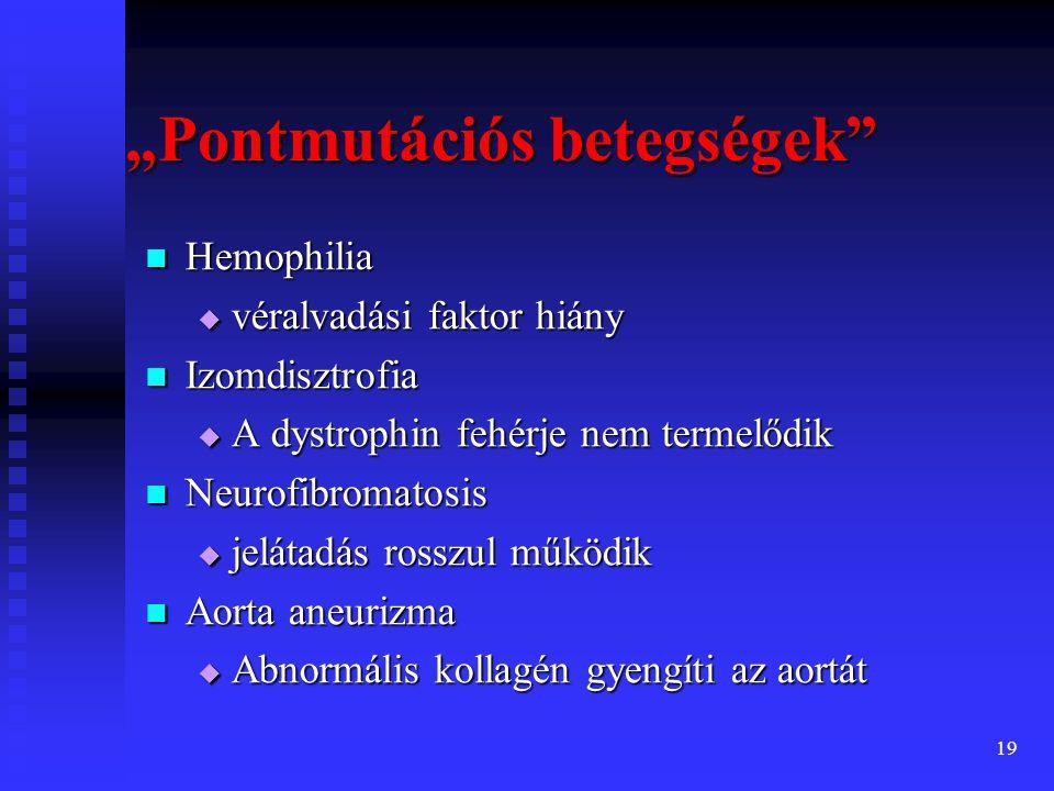 20 A mutáció típusai Germinális mutáció Germinális mutáció  a meiózis során keletkezik  az embrió minden sejtjét érinti Szomatikus mutáció Szomatikus mutáció  a mitózis során keletkezik  csak az érintett sejt utódsejtjeit érinti  rák - daganatok