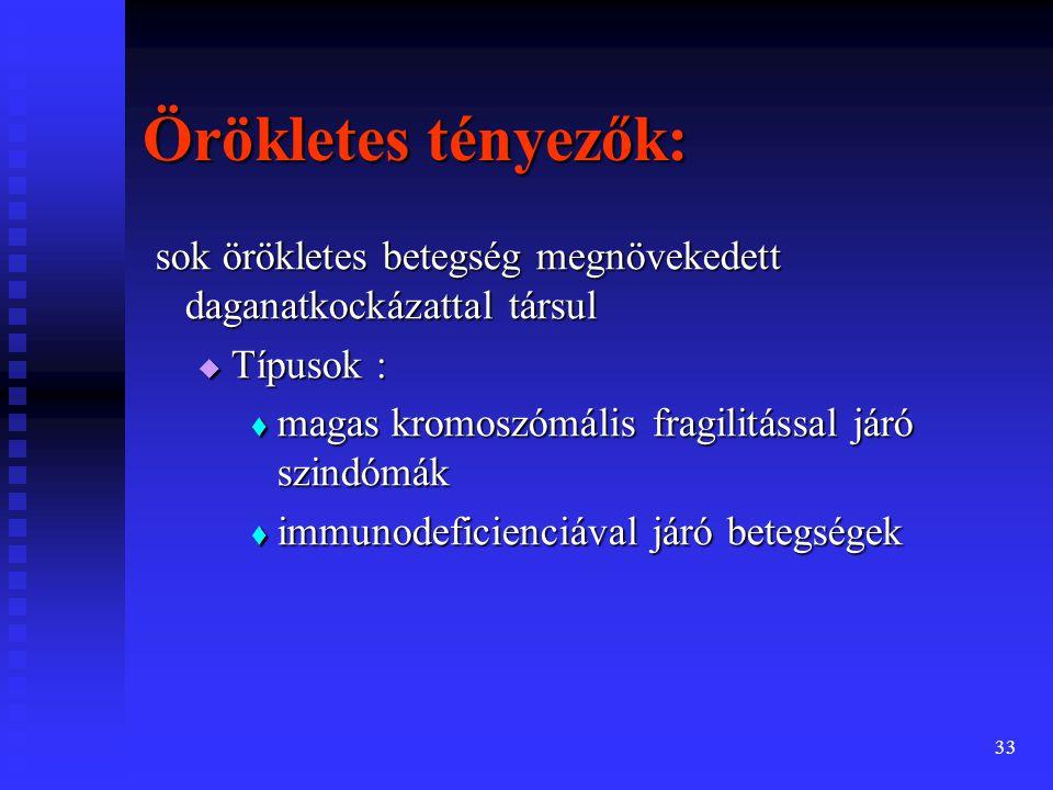 34 A daganatkeltő hatás kritériumai Daganatkeltő: minden olyan ágens, ill.