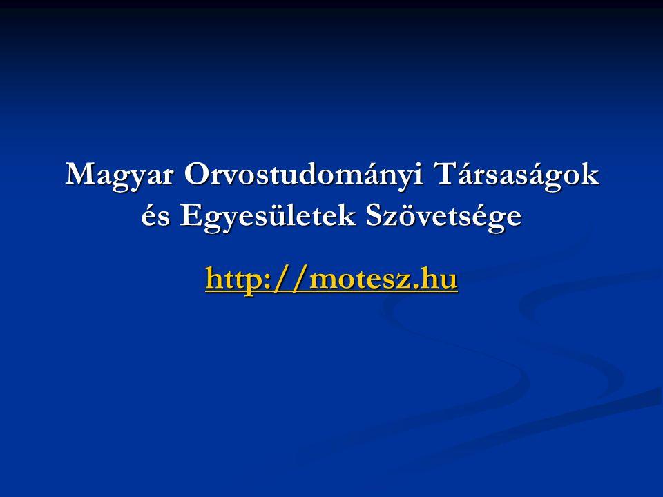 Magyar Orvostudományi Társaságok és Egyesületek Szövetsége http://motesz.hu http://motesz.hu