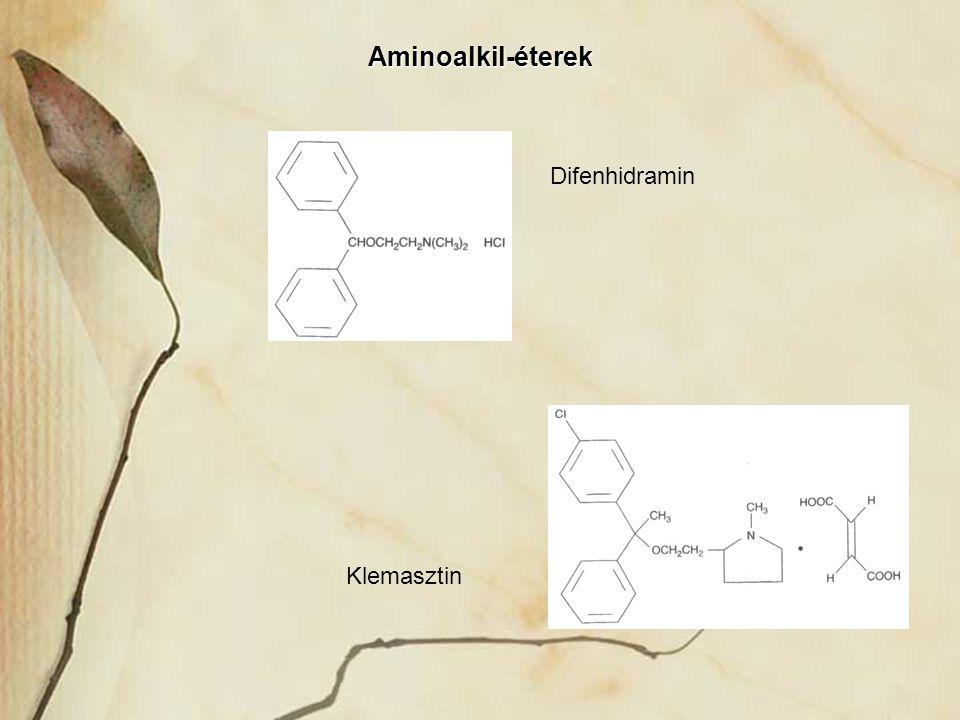 Aminoalkil-éterek Klemasztin Difenhidramin