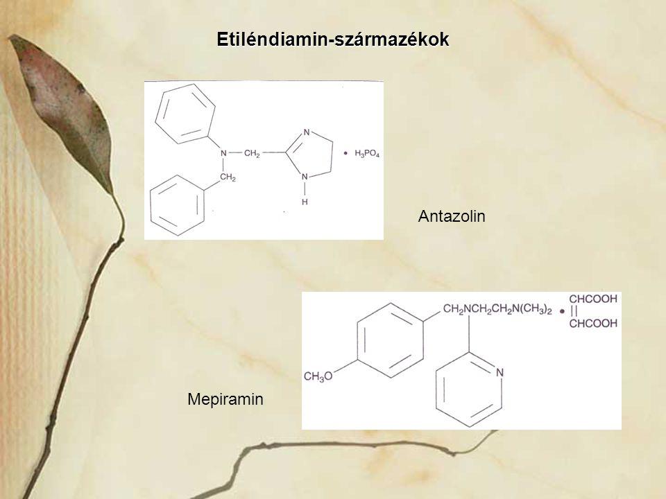 Etiléndiamin-származékok Antazolin Mepiramin
