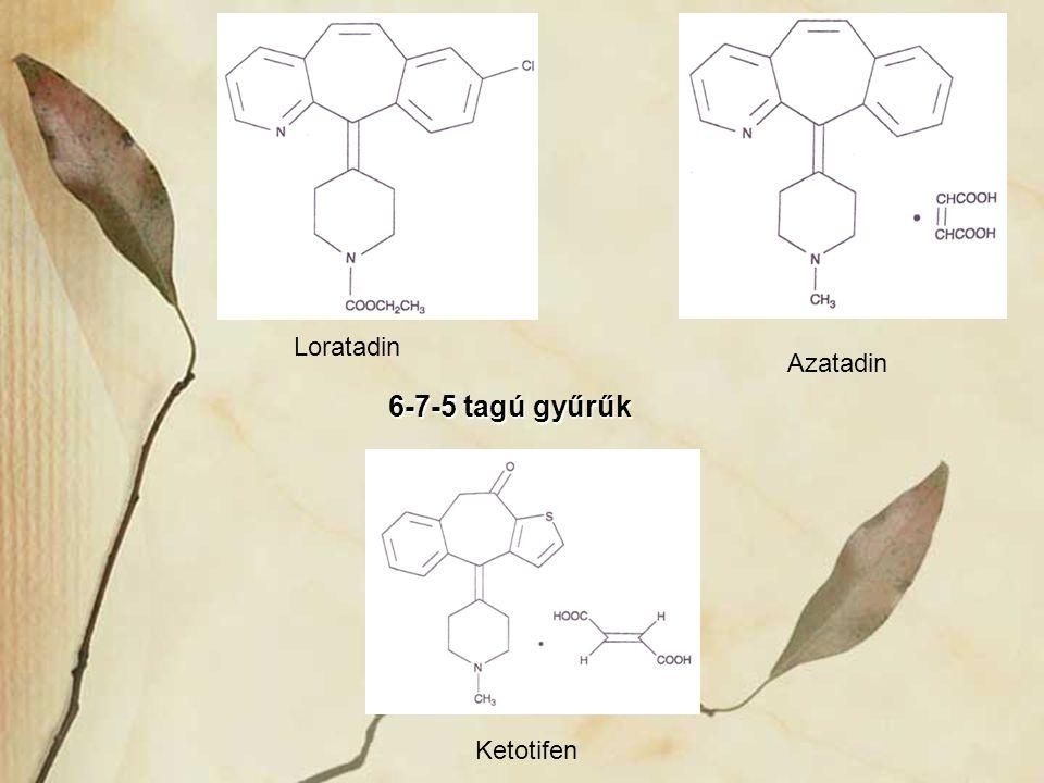 Loratadin Azatadin Ketotifen 6-7-5 tagú gyűrűk