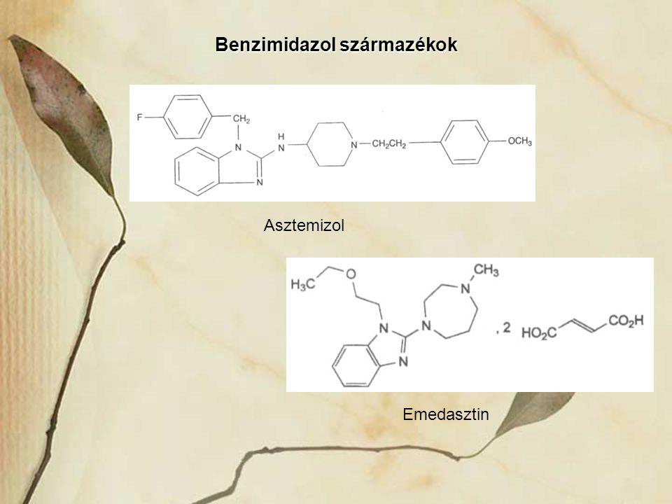 Asztemizol Emedasztin Benzimidazol származékok
