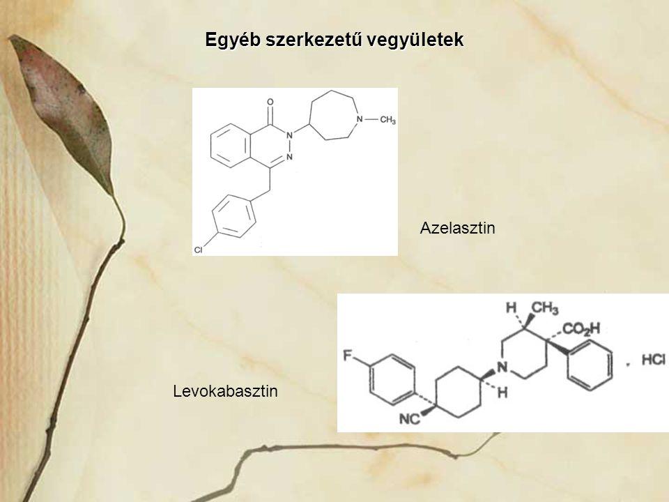 Egyéb szerkezetű vegyületek Azelasztin Levokabasztin