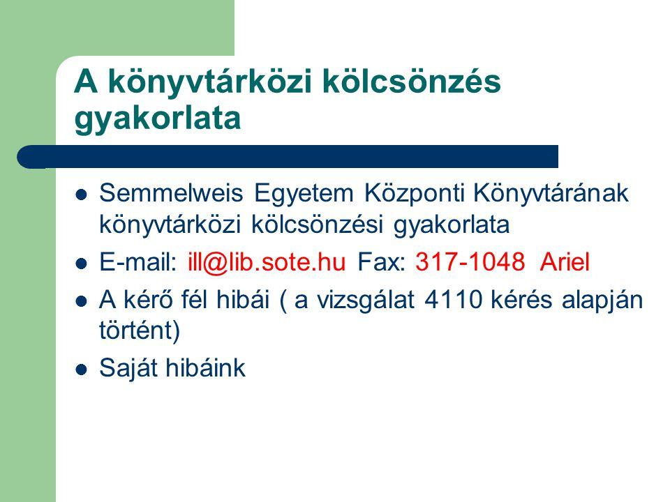 ORVOSI KÖNYVTÁR HÁLÓZAT KIALAKULÁSA Könyvtárközi kölcsönzési formák Magyarországi orvosi könyvtári hálózat kialakulása Szerzői jog kérdése Tóth Péter Benjamin: A digitális könyvtár és a szerzői jog TMT 2002.