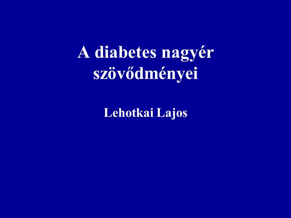A diabetes nagyér szövődményei Lehotkai Lajos