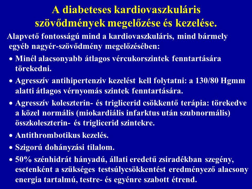 A diabeteses kardiovaszkuláris szövődmények megelőzése és kezelése. Alapvető fontosságú mind a kardiovaszkuláris, mind bármely egyéb nagyér-szövődmény