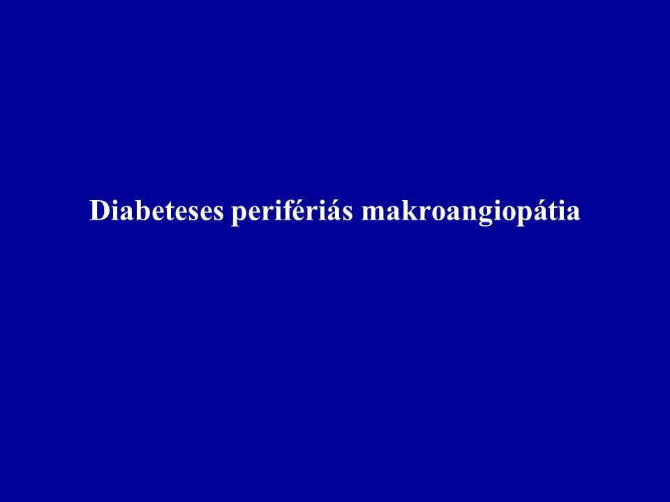 Diabeteses perifériás makroangiopátia