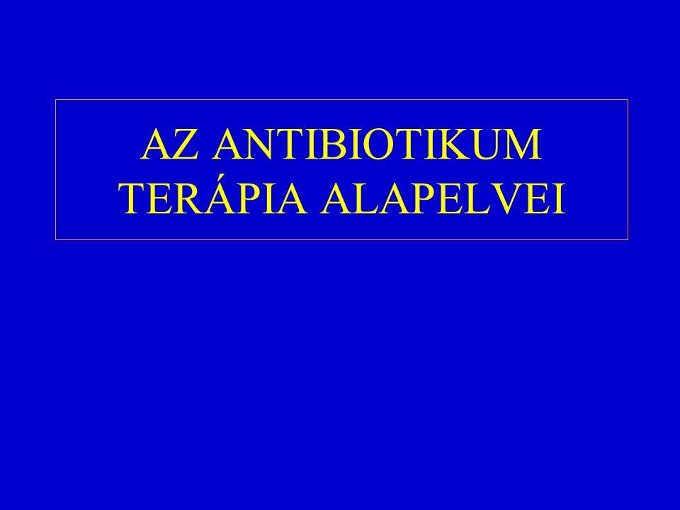 AZ ANTIBIOTIKUM TERÁPIA ALAPELVEI