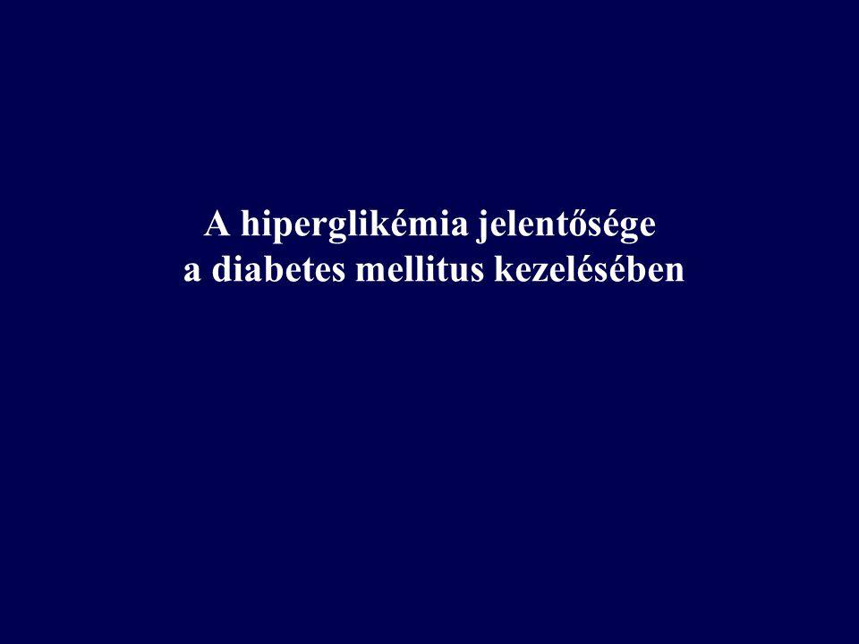 A hiperglikémia jelentősége a diabetes mellitus kezelésében