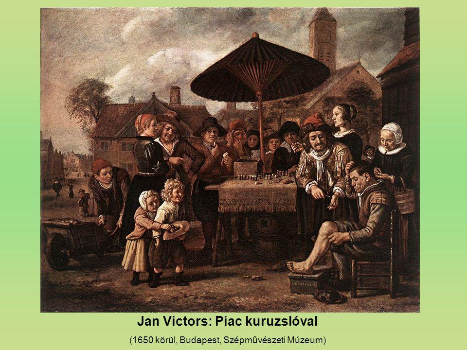Jan Victors: Piac kuruzslóval (1650 körül, Budapest, Szépművészeti Múzeum)