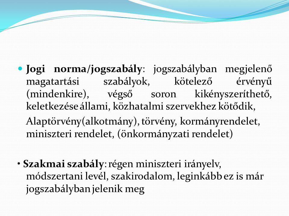 Magyarország Alaptörvénye Az ország alaptörvénye Formai szempontból: a jogforrási rendszer csúcsa különös eljárási rendben alkotják Tartalmi szempontból: gazdasági és társadalmi rendre állam- és kormányformára alapvető jogokra és kötelezettségekre.