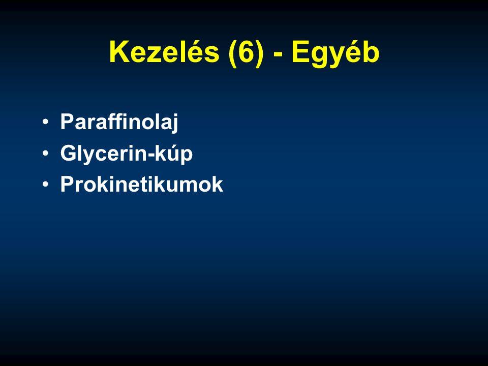 Kezelés (6) - Egyéb Paraffinolaj Glycerin-kúp Prokinetikumok