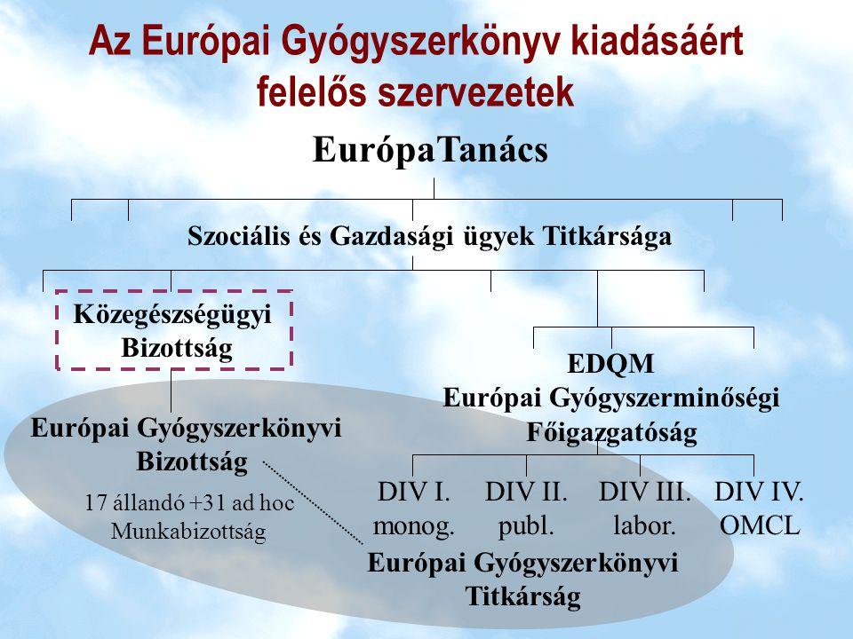 Az Európai Gyógyszerkönyvi Egyezményhez történt csatlakozásunk jogi következményei Szerződő felek vállalják, hogy megteszik a szükséges lépéseket annak érdekében, hogy az Eur.