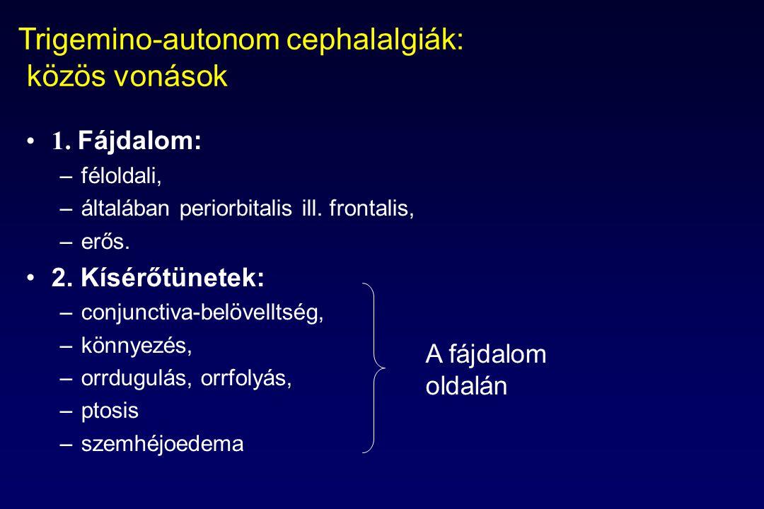 Trigemino-autonom cephalalgiák: közös vonások 1.