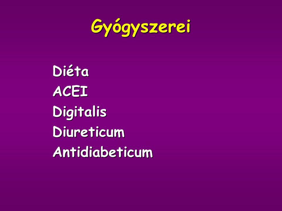 Anamnézis Amenorrhoea - primer? 30-as éveitől obesitas 50-es éveitől metabolikus syndroma - IGT, majd 2-es típusú DM, hypertonia 5-6 éve anginák, ISZB